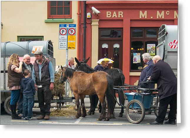 Ennistymon Greeting Cards - Agriculture Fair Greeting Card by Sid Webb