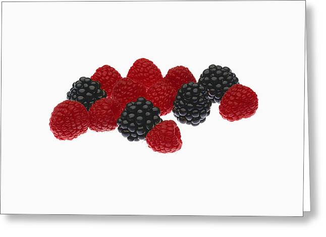 Interior Still Life Greeting Cards - Agriculture - Fruit, Raspberries Greeting Card by Ed Young