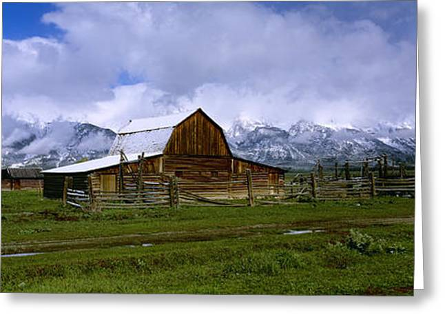 Old Barns Greeting Cards - Agriculture - Historic Wooden Barn, An Greeting Card by Charles Blakeslee