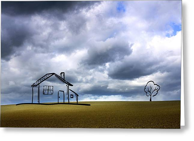 Agriculture Landscape Greeting Card by Bernard Jaubert