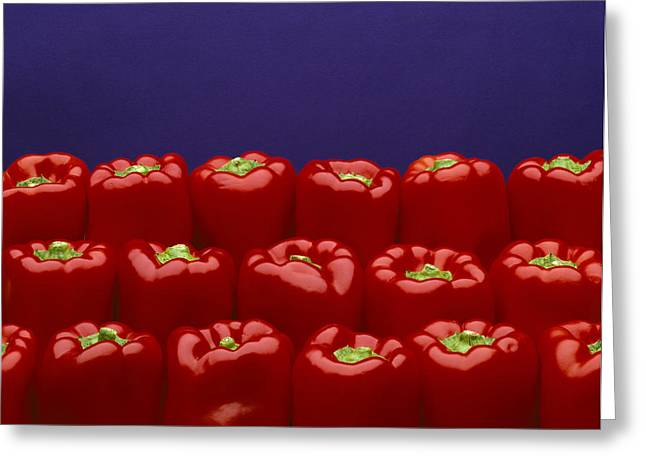 Maturity Greeting Cards - Agriculture - Produce, Red Bell Peppers Greeting Card by Ed Young
