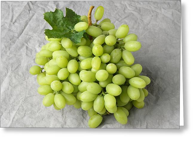 Grape Clusters Greeting Cards - Agriculture - Thompson Seedless Table Greeting Card by Ed Young