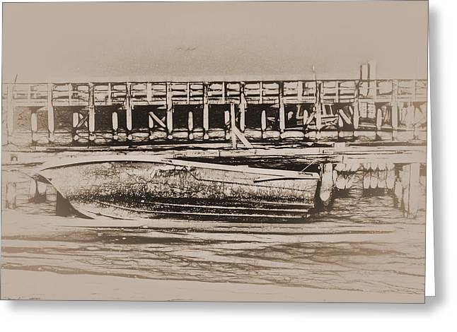 Barry Styles Greeting Cards - Aground and Abandoned Greeting Card by Barry Jones
