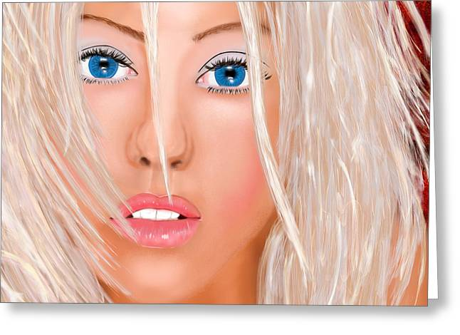 Christina Aguilera Greeting Cards - Aguilera Beautiful Greeting Card by Mathieu Lalonde