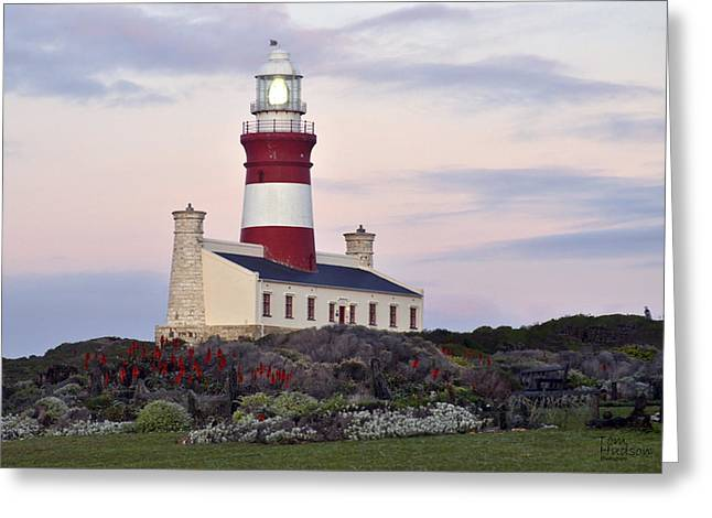 Tom Hudson Greeting Cards - Agulhas Lighthouse Greeting Card by Tom Hudson