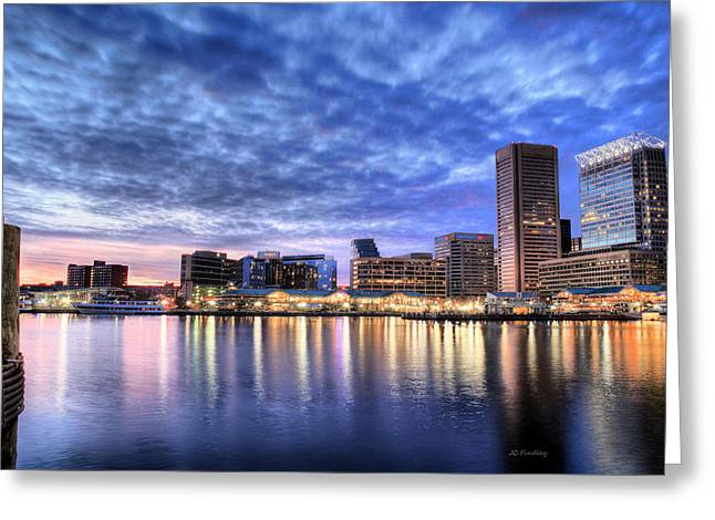 Md Greeting Cards - Ah Baltimore Greeting Card by JC Findley