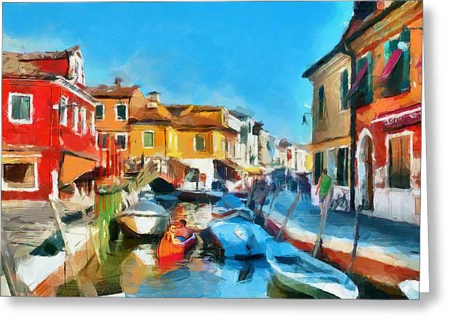 Gondolier Greeting Cards - Ah Venice Dreams 2 Greeting Card by Yury Malkov