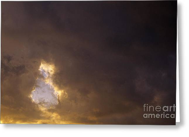 Sun Breaking Through Clouds Greeting Cards - Ah00804strmclds.tif Greeting Card by Jim Corwin