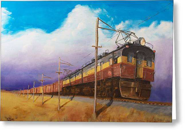 Railroad Greeting Cards - Ahead of the weather Greeting Card by Christopher Jenkins