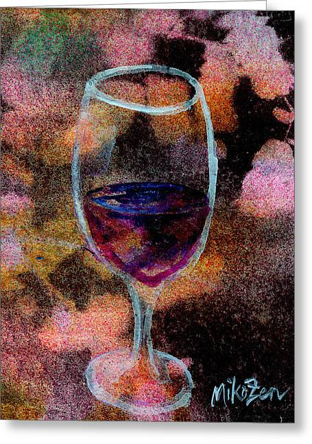 Toast Mixed Media Greeting Cards - Ahem a Toast Greeting Card by Art By Miko