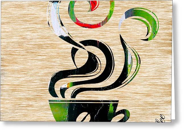 Coffee Greeting Cards - Ahh Coffee Greeting Card by Marvin Blaine