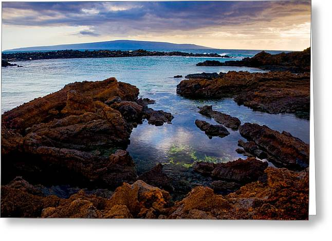 Snorkel Greeting Cards - Ahii Kinau - A sunset from Cape Kinau in Makena Maui  Greeting Card by Nature  Photographer