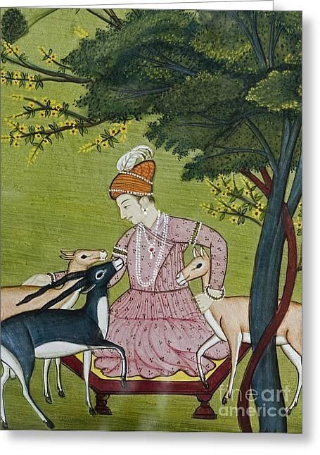 Jainism Greeting Cards - Ahimsa, Indian Miniature Greeting Card by Paul D. Stewart