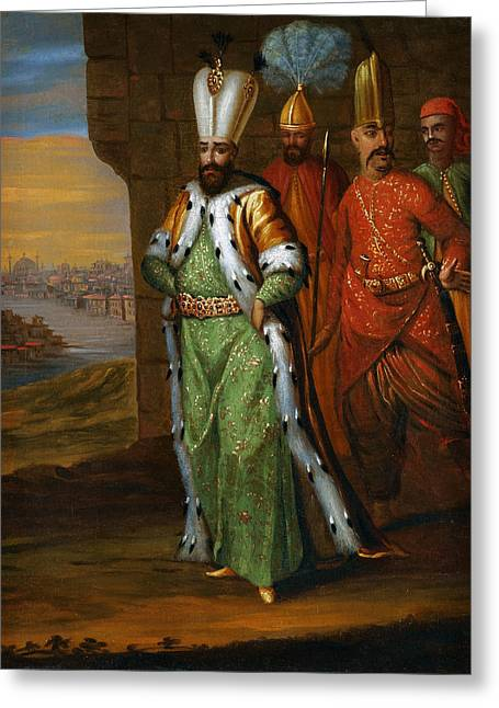 Initiation Greeting Cards - Ahmed Iii And His Retinue Greeting Card by Celestial Images
