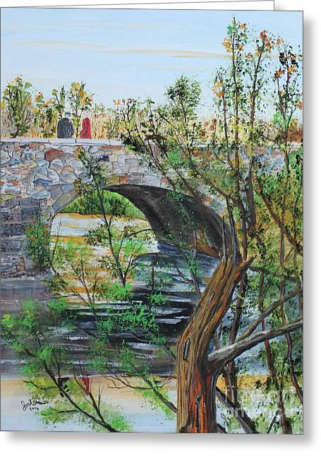 Ahnapee River Crossing Greeting Card by Jack G  Brauer