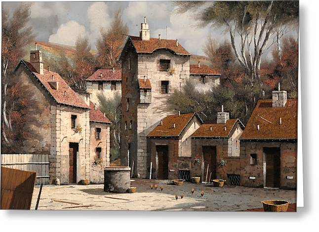 Cart Greeting Cards - Aia Bianca Greeting Card by Guido Borelli