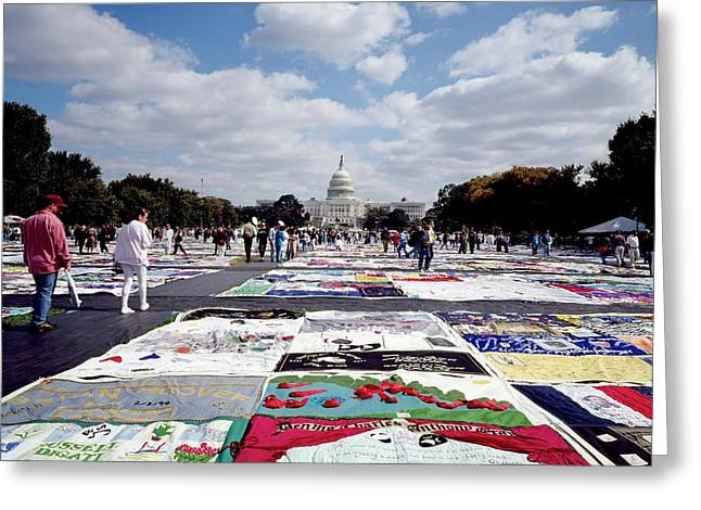 Aids Quilt Greeting Card by Carol M. Highsmith Archive, Library Of Congress