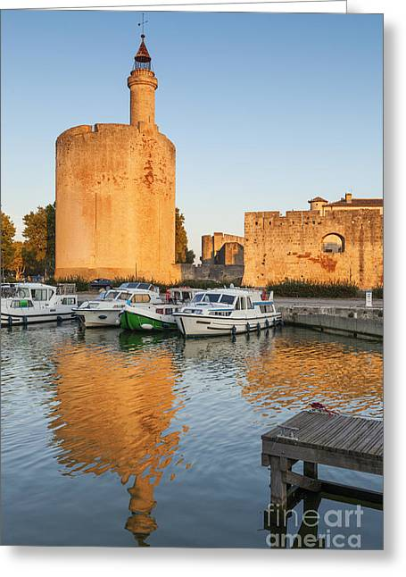 Aigues-mortes  Languedoc-roussillon France Constance Tower Greeting Card by Colin and Linda McKie