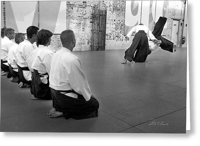 Dojo Greeting Cards - Aikido Demonstration Greeting Card by Frederic A Reinecke