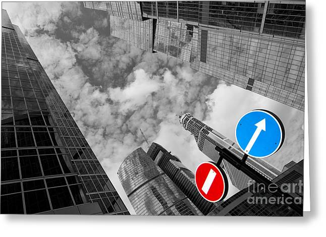 Traffic Pyrography Greeting Cards - Aim high Greeting Card by Maurizio Bacciarini