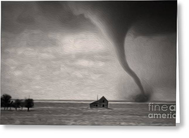 Ain't It Grand The Winds Stop Blowing Greeting Card by Gregory Dyer