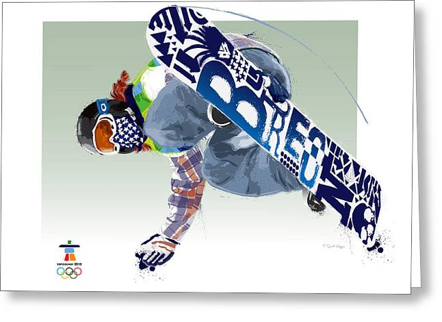 Snowboard Greeting Cards - Air Born for Gold Greeting Card by Scott Weigner