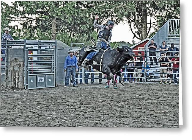 Rodeo Greeting Cards - Air-Born Greeting Card by Gary Keesler