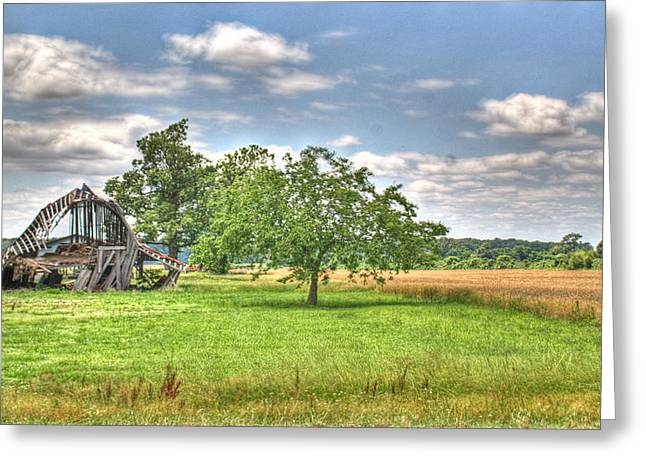 Festivities Greeting Cards - Air Conditioned Barn Greeting Card by Douglas Barnett