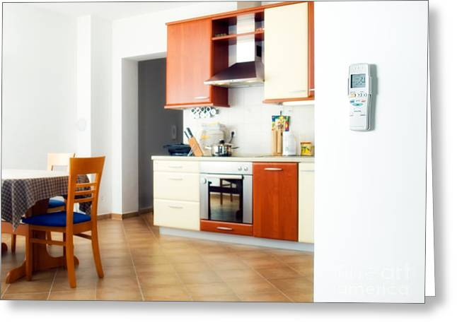 Home Office Furniture Greeting Cards - Air-conditioned interior Greeting Card by Sinisa Botas