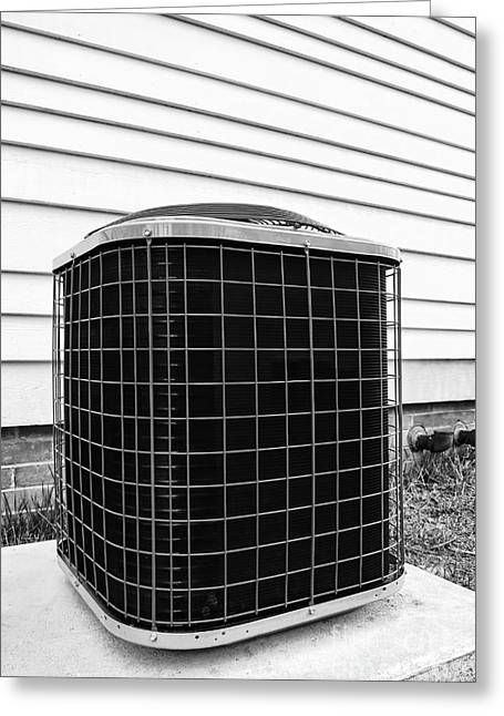 Energy Efficient Greeting Cards - Air Conditioner Condenser Greeting Card by Olivier Le Queinec