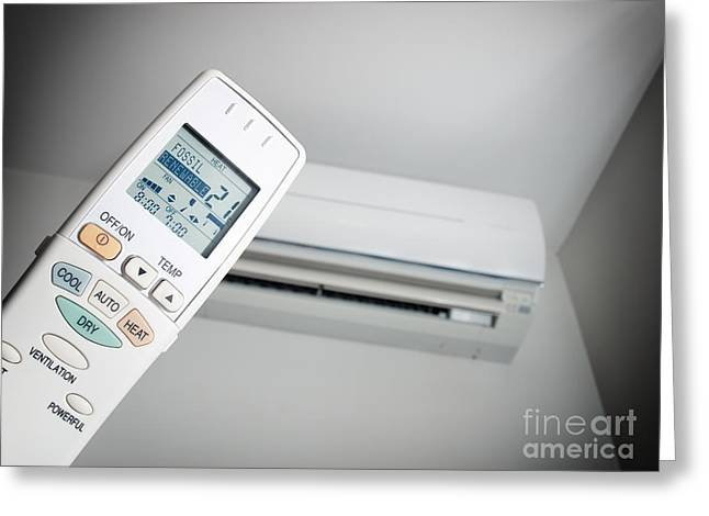 Air Conditioner Greeting Cards - Air conditioning choice Greeting Card by Sinisa Botas