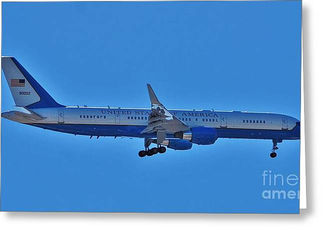 Historical Images Greeting Cards - Air Force 1 - 16x9 Ratio Greeting Card by Bob Sample