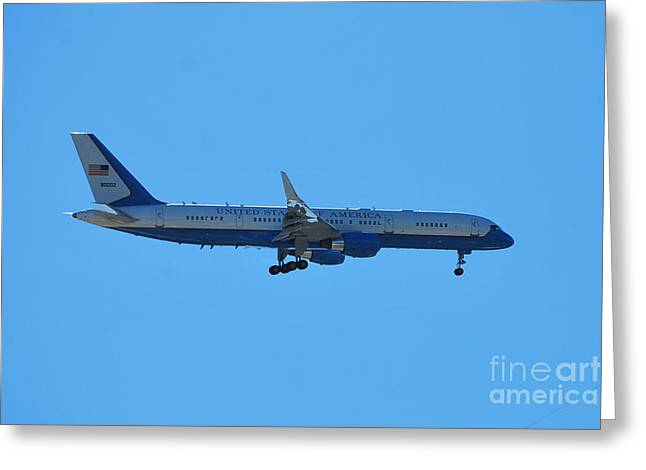 Historical Images Greeting Cards - Air Force 2 Greeting Card by Bob Sample