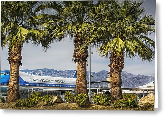 Palm Springs Airport Greeting Cards - Air Force Ones Vacation Greeting Card by Jay Hooker