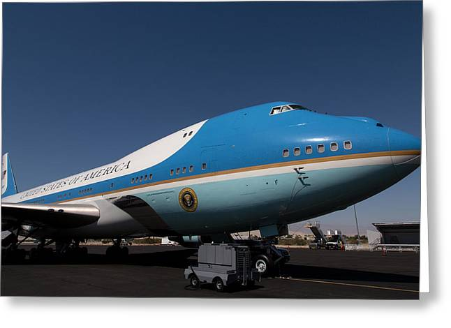 Air Force One Greeting Cards - Air Force One PSP Greeting Card by John Daly