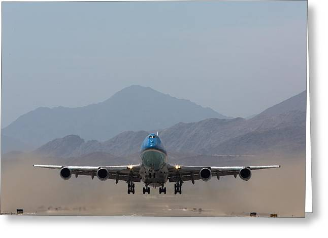 Palm Springs Airport Greeting Cards - Air Force One Takeoff Greeting Card by John Daly