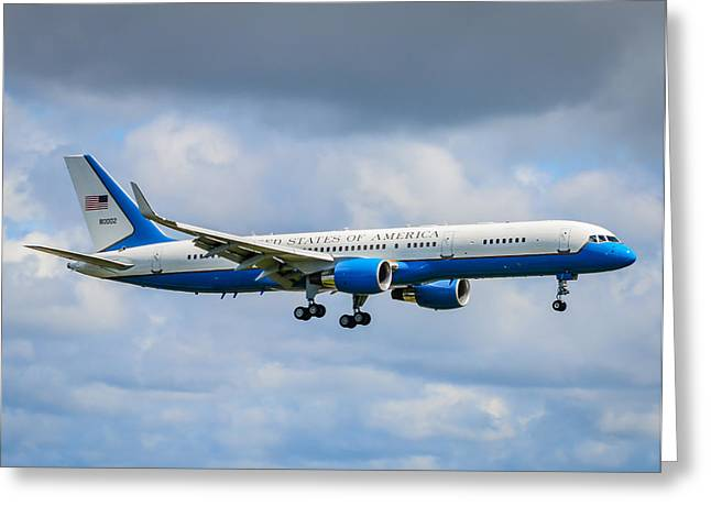 President Obama Greeting Cards - Air Force Two Greeting Card by Puget  Exposure