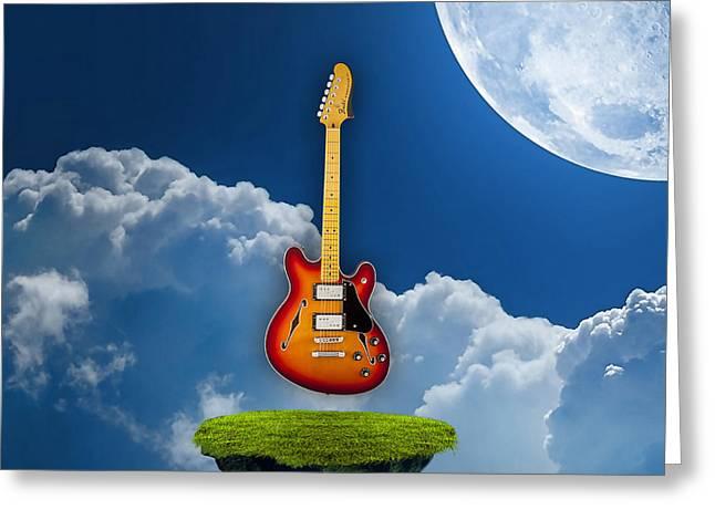 Air Guitar Greeting Card by Marvin Blaine
