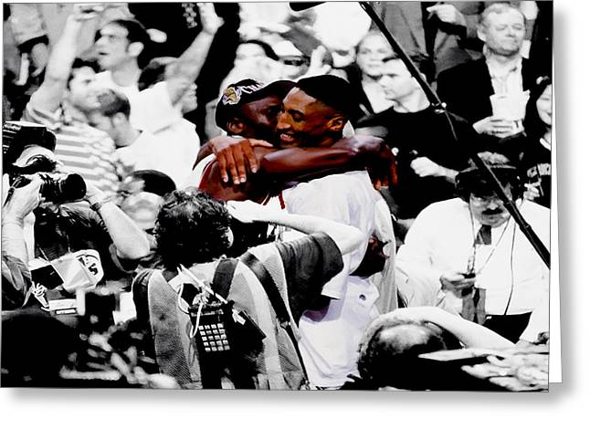 Nba Champs Greeting Cards - Air Jordan and Scottie Pippen II Greeting Card by Brian Reaves