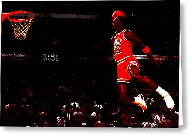 Recently Sold -  - Patrick Ewing Greeting Cards - Air Jordan in Flight III Greeting Card by Brian Reaves