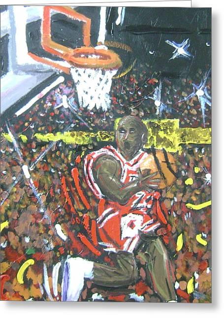 Air Jordan Greeting Card by Matt Umthun