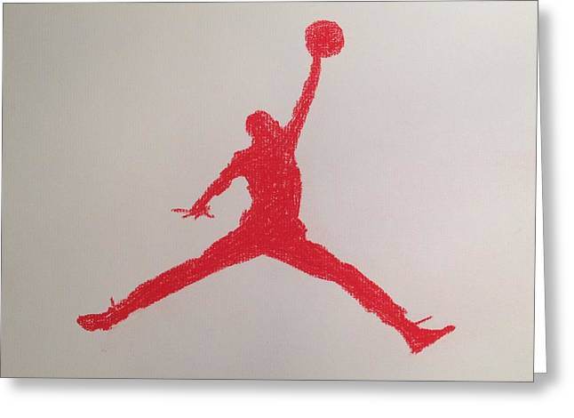 Nike Greeting Cards - Air Jordan Greeting Card by Peter Virgancz