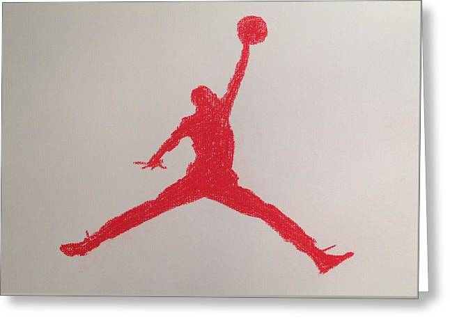 Recently Sold -  - Nike Greeting Cards - Air Jordan Greeting Card by Peter Virgancz