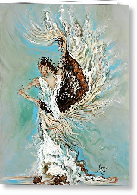 Figurative Greeting Cards - Air Greeting Card by Karina Llergo Salto