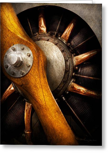 Old Wood Greeting Cards - Air - Pilot - You got props Greeting Card by Mike Savad