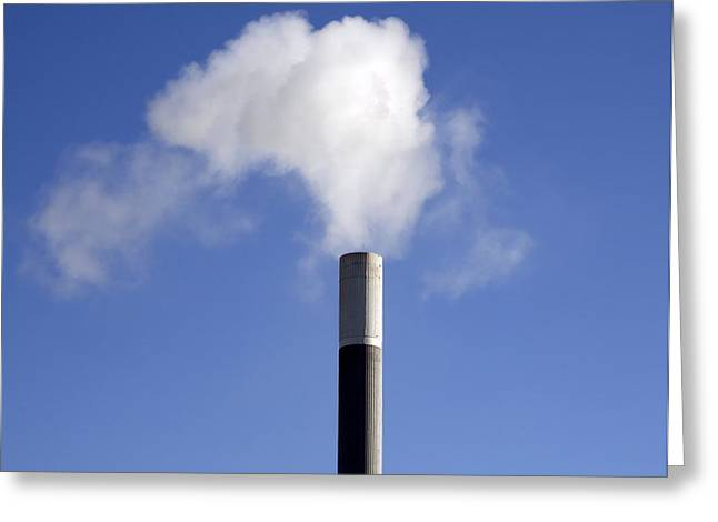 Co2 Greeting Cards - Air pollution Greeting Card by Science Photo Library