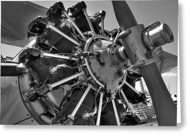 Aircraft Engine Greeting Cards - Air Power Greeting Card by Daniel Hagerman