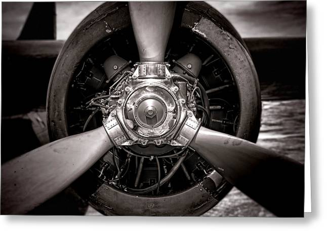 Propeller Greeting Cards - Air Power Greeting Card by Olivier Le Queinec