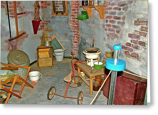 Liberation Greeting Cards - Air Raid Shelter in Liberation Museum in Nijmegan-Netherlands Greeting Card by Ruth Hager