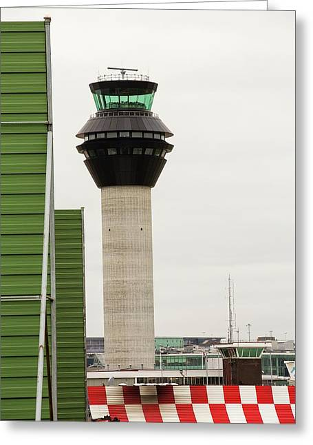 Air Traffic Control Tower Greeting Card by Ashley Cooper